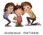 child by teasing   Shutterstock . vector #436716646