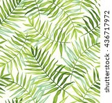 tropical seamless pattern with... | Shutterstock .eps vector #436717972