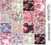 vector set 12  seamless pattern ... | Shutterstock .eps vector #436719772