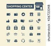 shopping center icons | Shutterstock .eps vector #436723348