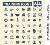 training icons | Shutterstock .eps vector #436723402