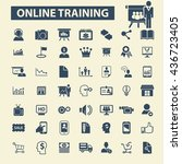 online training icons | Shutterstock .eps vector #436723405