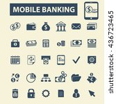mobile banking icons | Shutterstock .eps vector #436723465