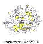 vector creative illustration of ... | Shutterstock .eps vector #436724716