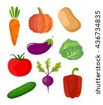 vegetables vector | Shutterstock .eps vector #436734835