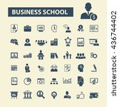 business school icons | Shutterstock .eps vector #436744402