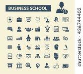business school icons   Shutterstock .eps vector #436744402