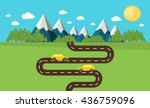 mountain landscape vector | Shutterstock .eps vector #436759096