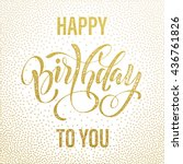 birthday postcard. happy... | Shutterstock .eps vector #436761826