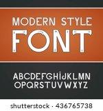vector label font  modern style. | Shutterstock .eps vector #436765738