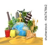 travel concept. the most... | Shutterstock . vector #436767862