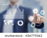 head up display interface... | Shutterstock . vector #436775362