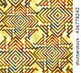abstract seamless pattern... | Shutterstock . vector #436778242