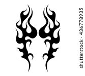 flame tattoo tribal vector... | Shutterstock .eps vector #436778935