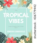 bright hawaiian design with... | Shutterstock .eps vector #436779442