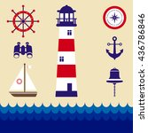 marine elements vector   Shutterstock .eps vector #436786846