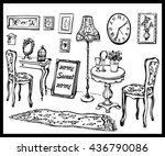 sweet home. vector illustration ... | Shutterstock .eps vector #436790086