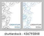 two background for design with... | Shutterstock .eps vector #436793848