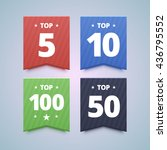 top rating badges. 5  10  50... | Shutterstock .eps vector #436795552