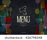 restaurant menu design. vector... | Shutterstock .eps vector #436798348
