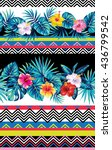 seamless striped pattern with... | Shutterstock .eps vector #436799542