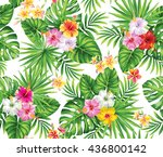 tropical seamless pattern with... | Shutterstock .eps vector #436800142