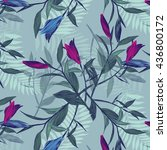 pattern with purple and blue... | Shutterstock .eps vector #436800172