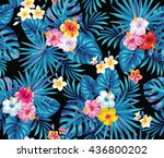 tropical seamless pattern with... | Shutterstock .eps vector #436800202