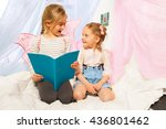 two little pixies with wings... | Shutterstock . vector #436801462
