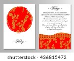 template for brochure with sun... | Shutterstock .eps vector #436815472