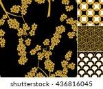 japanese seamless pattern set...   Shutterstock .eps vector #436816045