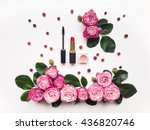 decorative flat lay composition ... | Shutterstock . vector #436820746