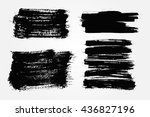 hand drawn brushes.grunge brush ... | Shutterstock .eps vector #436827196
