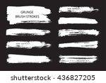hand drawn brushes.grunge brush ... | Shutterstock .eps vector #436827205