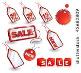 shopping sale tags design set | Shutterstock .eps vector #43682809