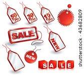 shopping sale tags design set | Shutterstock .eps vector #43682809