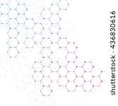 molecules vector | Shutterstock .eps vector #436830616