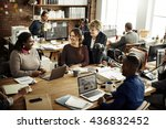 business team working office... | Shutterstock . vector #436832452