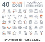 set vector line icons in flat... | Shutterstock .eps vector #436833382