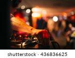 music background dj night club...   Shutterstock . vector #436836625