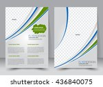 abstract flyer design... | Shutterstock .eps vector #436840075