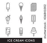 Outline Ice Cream Icons...