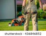 Garden Is My Mission. Caucasian Landscaper Gardener Ready For Hard Garden Work. - stock photo