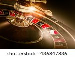 casino roulette games concept... | Shutterstock . vector #436847836