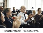 business team meeting... | Shutterstock . vector #436850596