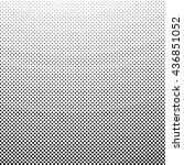 pop art background  black dots... | Shutterstock .eps vector #436851052