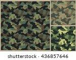 khaki pattern  camouflage... | Shutterstock .eps vector #436857646