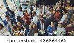 food festive restaurant party... | Shutterstock . vector #436864465