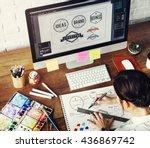 ideas creative occupation... | Shutterstock . vector #436869742
