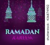 vector illustration of ramadan... | Shutterstock .eps vector #436874902